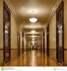long hallway of classrooms stock photos image 24478523