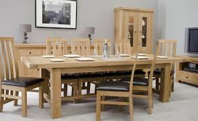 Large Extending Dining Table Bordeaux Oak Large Extending Dining Table Oak Furniture Uk
