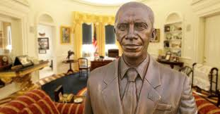 President Obama In The Oval Office Obama Orders Life Sized Bronze Statue Of Himself To Be Permanently