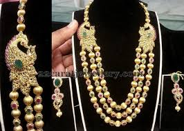long bead chain necklace images 3 layer gold balls long chain jewellery designs jpg