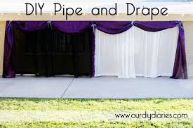 Curtain Drapes For Weddings Diy Pipe And Drape I Really Like The Purple With White Looks
