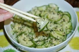 comi de cuisine sunomono salada de pepino agridoce légumes régime et recette de