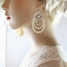 pearl chandelier earrings bridal earrings mylittlebride artfire shop