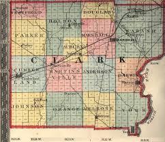 Clark County Zip Code Map by St Louis Vandalia Terre Haute Rail Road Clark County 1871 Geo B