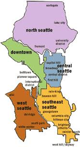 seattle map by district seattle neighborhood