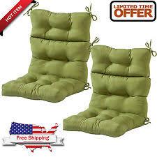 High Back Patio Chair Cushion Patio Chair Cushion Set Of 4 Wicker Furniture Outdoor High Back