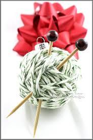 miniature yarn ball christmas tree ornament handmade gift for