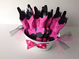 minnie mouse party supplies minnie mouse birthday party cutlery pink polka dot wrapped