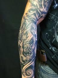 And Demons Sleeve Tattoos Grey On Arm Sleeve