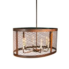 Wire A Chandelier Mesh Drum Oval Wire Chandelier Made In Usa Lowcountry