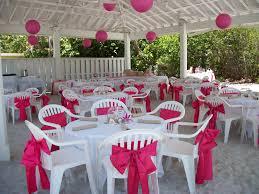 Outdoor Wedding Chair Decorations Pink Wedding Under The Pavilion At The Sandbar Beach Weddings