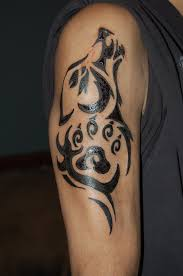 tribal wolf tattoos meaning for design idea for and