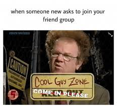 Friends Memes Facebook - when someone new asks to join your friend group wholesome memes