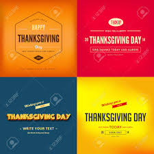 happy thanksgiving day typography greeting card poster design