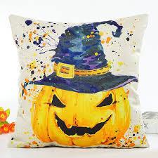 decorative pillows u0026 shams beige halloween pumpkin hat printing
