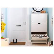 ställ shoe cabinet with 3 compartments white ikea