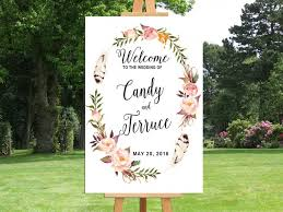 wedding welcome sign template printable wedding welcome sign bohemian wedding sign printable