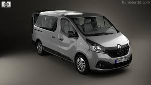 renault minivan 360 view of renault trafic passenger van 2014 3d model hum3d store