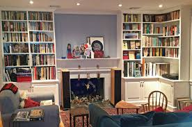 decorations small living room with book shelves and white modern