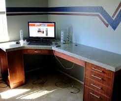 how to build a floating desk 68 most splendid build a corner desk diy floating your own office