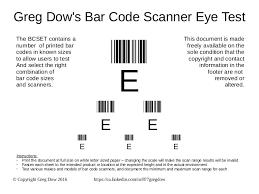 greg dow u0027s bar code scanner eye test