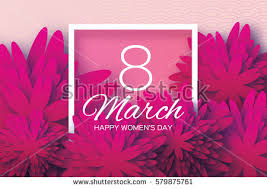 s day greeting cards magenta pink paper cut flower 8 stock vector 579875761