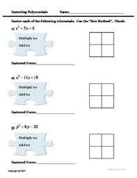 118 best polys factoring images on pinterest teaching math high
