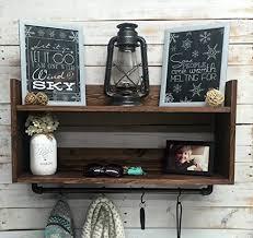 creative design wall coat rack with shelf mounted racks hooks you