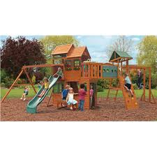 Big Backyard Windale by Big Backyard Ridgeview Deluxe Clubhouse Wooden Play Set F270855