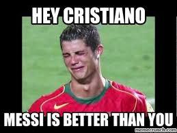 Meme Messi - ronaldo crying meme