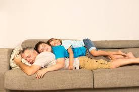 Sleeping On The Sofa Father And Kids Sleeping On The Sofa Stock Photo Image 42225477