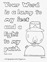 your word is a lamp to my feet coloring page see more at my blog