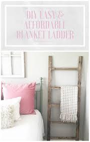 diy blanket diy blanket ladder the blooming nest