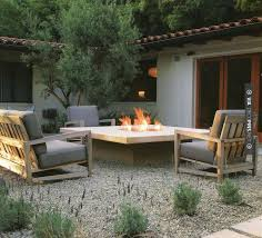 Patio Furniture Palo Alto by Neat Raised Fire Table Check Out More Gravel Patio Furniture