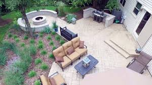 backyard design u2013 stamped concrete patio with fire pit youtube
