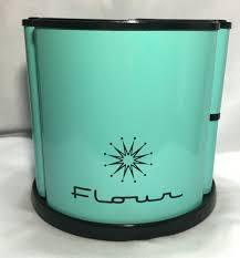 retro kitchen canisters set vintage 50s 60s mid century aqua black starburst revolving