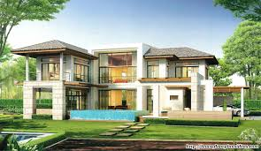 Double Storey House Floor Plans Modern House Design New Modern Tropical Style Double Storey