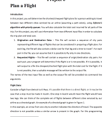 plan a flight introduction in this project you w chegg com