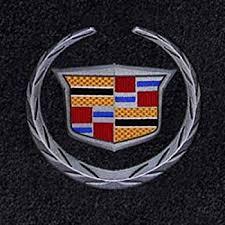 cadillac cts emblem amazon com cadillac cts rwd floor mats w silver crest logo