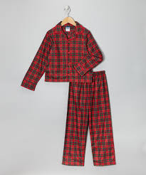 candlesticks plaid flannel pajama set boys zulily