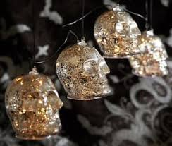 mercury glass string lights nib pottery barn silver skull lit mercury glass string lights 4