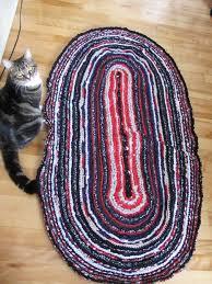 Crochet A Rag Rug Oval Rag Rug Made With A Big Crochet