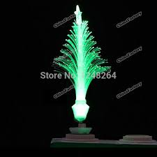 Christmas Tree With Optical Fiber Lights - 7 colors change e27 optic fiber mini pvc led christmas tree light