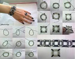 make bracelet with beads images Diy square shaped beaded bracelet jpg