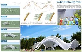 design by coding parametric wave pavilion using python script