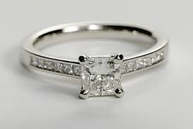 channel set engagement rings channel set princess cut engagement ring engagement ring wall
