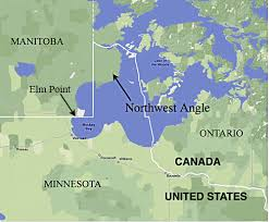map us states bordering canada the story minnesota s weirdly shaped northern border minnpost