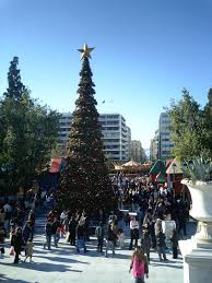 christmas tree 2006 syntagma square athens greece photo from