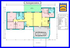 plan maison plain pied en l 4 chambres plan maison moderne plain pied 4 chambres