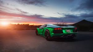 Lamborghini Aventador On Road - wallpaper lamborghini aventador green 4k lamborghini